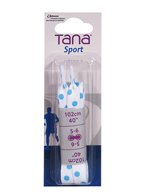 tana laces flat assortment pack 40 blue dots
