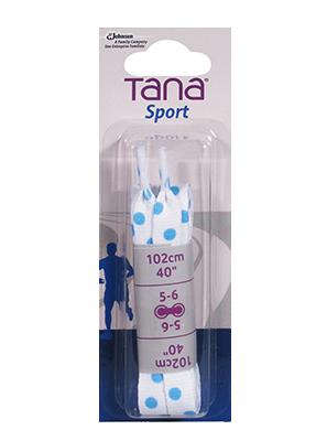 tana lacets plats emballage assorti 40 bleu à pois
