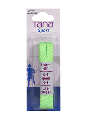 tana laces flat assortment pack 40 neon green