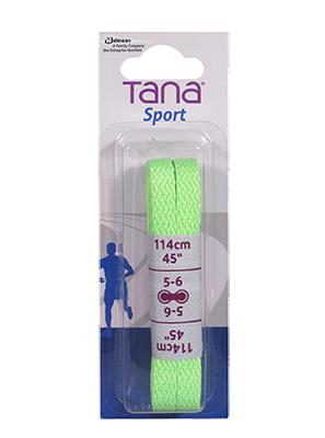 tana lacets plats emballage assorti 40 vert néon