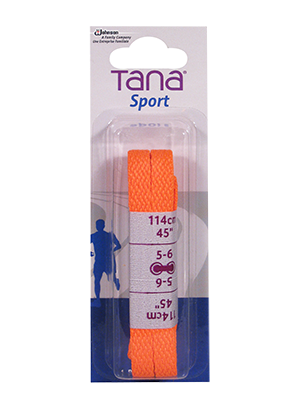 tana laces flat assortment pack 40 neon orange
