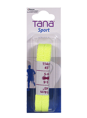 tana lacets plats emballage assorti 40 jaune néon