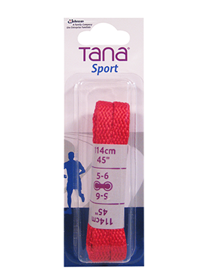 tana lacets plats emballage assorti 45 rouge