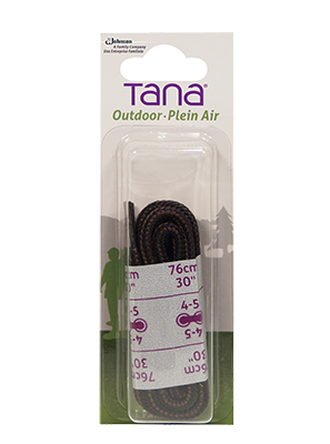 tana outdoor laces hiking boot round 30 black brown