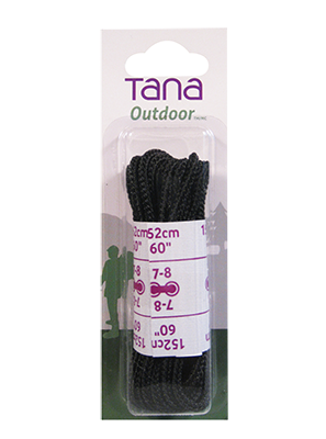 tana outdoor laces hiking boot round 60 black