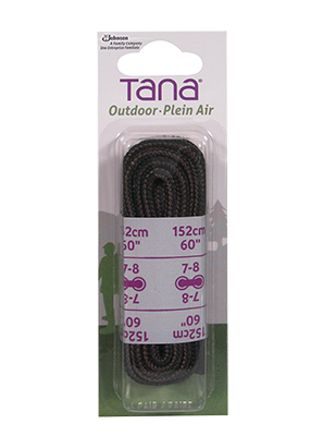 tana outdoor laces hiking boot round 60 brown black