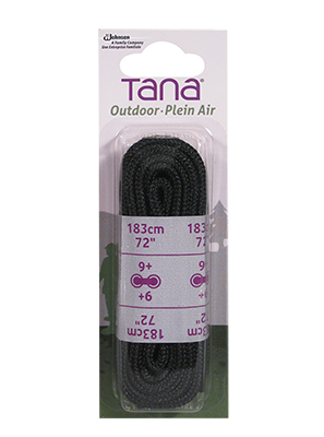 tana outdoor laces work boot round 72 black